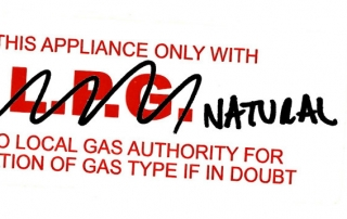 Gas type label