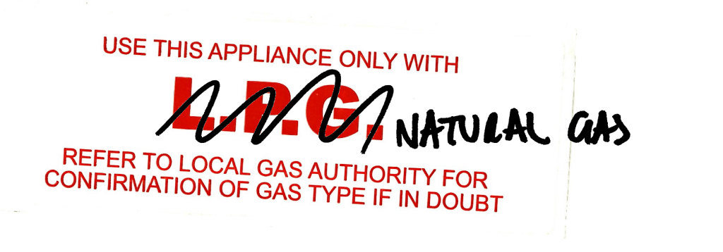 Take care when buying Gas appliances online!