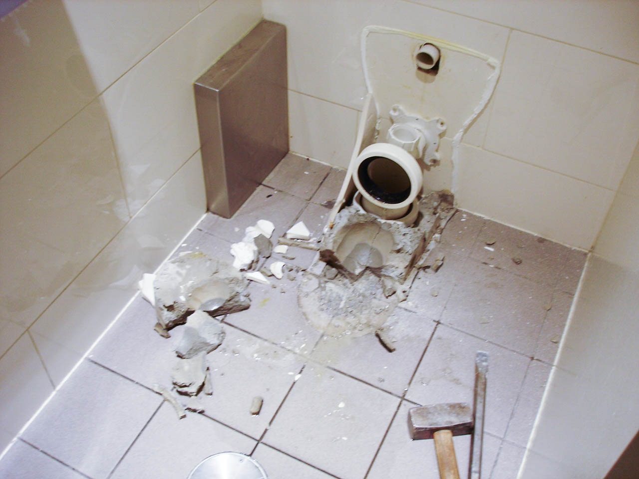 toilet smashed out